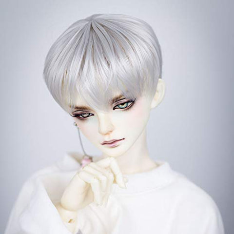 HMANE BJD Doll Wig, Male Short Hair Wig for 1/3 BJD Dolls - Silver White (No Doll)