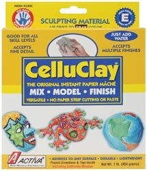 Bulk Buy: Activa Celluclay Instant Papier Mache 1 Pound Gray 100A (2-Pack)