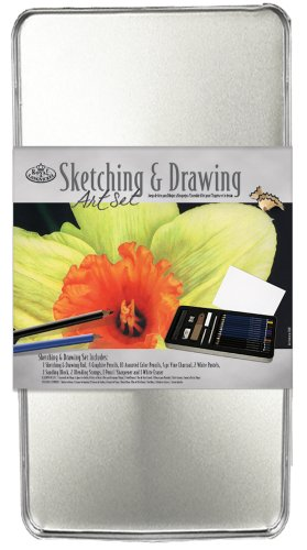 Royal & Langnickel Large Tin Sketching and Drawing Art Set