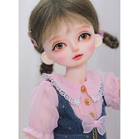 YILIAN 1/6 BJD Doll 27 cm 10.3 Inch Ball Jointed SD Dolls 100% Handmade Doll with Clothing + Shoes + Wig + Makeup, for Child Gift