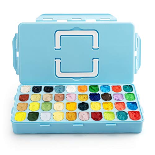 Gouache Paint, 40 Colors x 30ml Unique Jelly Cup Design Gouache Opaque Watercolor Painting for Kids, Beginner, Artists