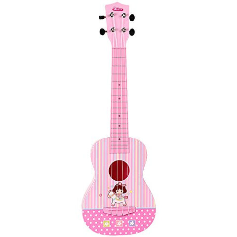 BAOLI Light Pink Color Plastic Beautiful Melody Ukulele Accurate Intonation Excellent String Opening Tuning Keys Arch-Shaped Back Panel