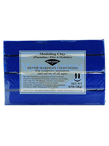 Van Aken Plastalina Modeling Clay ultra blue 4 1/2 lb. bar [PACK OF 2 ]