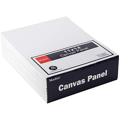 Madisi Painting Canvas Panels 28 Pack, 11X14,Classpack Paint Canvas
