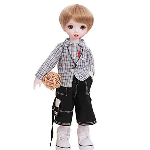 KLMB 1/6 BJD Dolls SD Joint Movable Action Figure Fashion Birthday Christmas Halloween Valentine's Birthday Wedding Gift 26Cm Toys Full Set