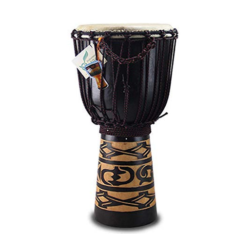 "WYKDL Drum Bongo Congo African Drum -MED Size- 12"" High x 5"" Drum Head JIVE Brand- Professional Sound"
