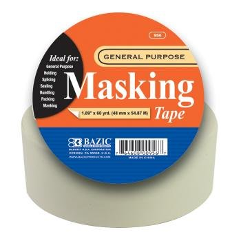 "Bazic 1.89"" 60 Yards) Gen Purpose Masking Tape (Pack Of 24)"