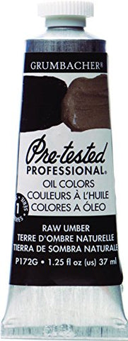 Grumbacher Pre-Tested Oil Paint, 37ml/1.25 Ounce, Raw Umber (P172G)