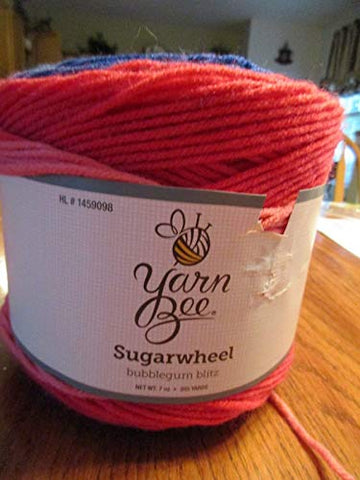 Yarn Bee Sugar Wheel Bubble Gum Blitz Yarn Medium Weight