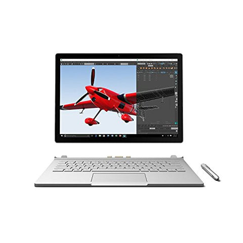 "Microsoft Surface Book 512GB Intel Core i7-6600U X2 2.6GHz 13.5"", Silver (Certified Refurbished)"