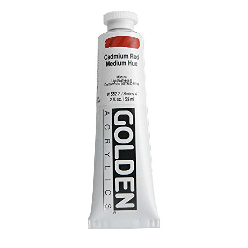 GOLDEN ARTIST COLORS 15522 HEAVY BODY ACRYLIC 2OZ CADMIUM RED MEDIUM HUE