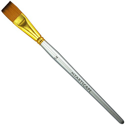 "Taklon Synthetic Brushes - Short Handle Replacement Brushes … (Flat 3/4"")"