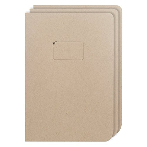 Northbooks USA Eco Blank Journal Large 7x10 Sketch Book | 3 Unlined Notebooks with Plain Pages | Premium Recycled Thick Paper | B5