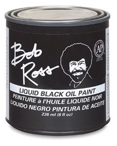 Martin/ F. Weber Bob Ross 236-Ml Oil Paint, Black (R62-27)