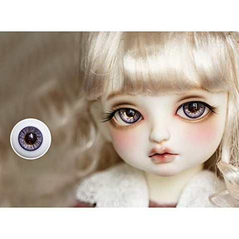 HMANE BJD Dolls Eyes, 16mm Glass Eyeball for BJD Dolls - Pure Copper (No Doll)