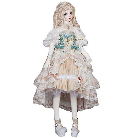 BJD Dolls' Clothes, Luxury European Style Aristocratic Palace Style, Use lace Chiffon Stitching, with Pearl Decoration for 1/3 bjd Doll 24 inch 60 cm Doll SD MSD DK Doll