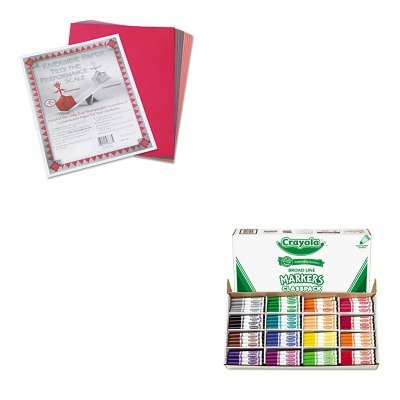 KITCYO588201PAC103637 - Value Kit - Crayola Non-Washable Classpack Markers (CYO588201) and Pacon
