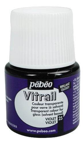 Pebeo Vitrail Stained Glass Effect Glass Paint 45-Milliliter Bottle, Violet