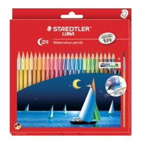 Staedtler Luna Watercolor Pencil 24 Shades, Free Gift!!
