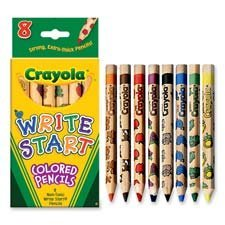Crayola LLC Products - Colored Pencils, Hexagon Shape, 5.3mm Tip, 8/ST, Assorted - Sold as 1 ST -