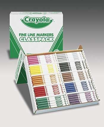 Crayola Classpack Markers 200 Ct Non Washable Fine Tip By Crayola Llc