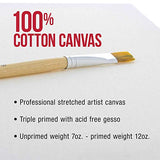 "U.S. Art Supply 24"" x 36"" Gallery Depth 1-1/2"" Profile Stretched Canvas 3-Pack - Acrylic Gesso Triple Primed 12-Ounce 100% Cotton Acid-Free Back Stapled Pouring Art"
