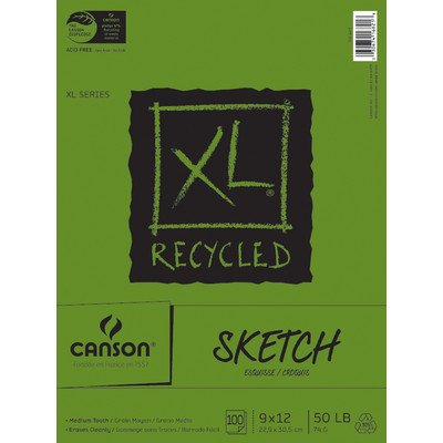 "XL Recycled Sketch Pads [Set of 6] Size: 9"" x 12"""