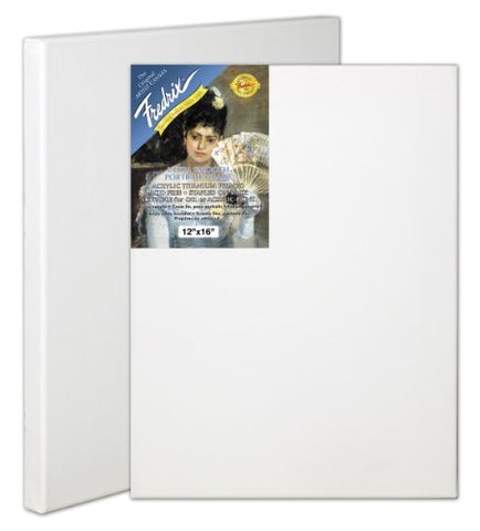 Fredrix 24 by 30-Inch Ultrasmooth Stretched Canvas, 24x30, White