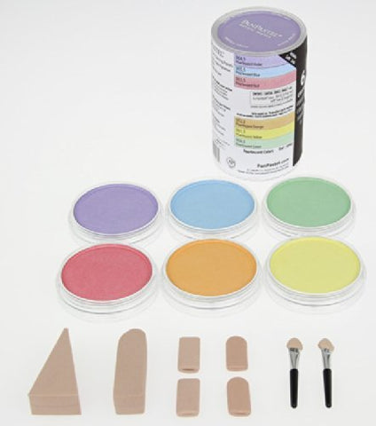 Colorfin PanPastel Pearlescent Artist Pastels Set, 9ml, Yellow, Green, Orange, Blue, Red and