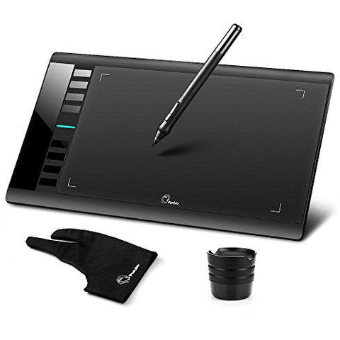 "Parblo A610 10"" x 6"" Graphic Drawing Pen Tablet 2048 Levels Pressure + Two Finger Anti-fouling"