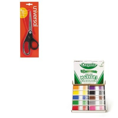 KITCYO588210UNV92009 - Value Kit - Crayola Non-Washable Classpack Markers (CYO588210) and Universal