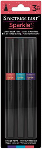 Spectrum Noir - Sparkle Glitter Alcohol Marker Pen Set - Vintage Home 3pk