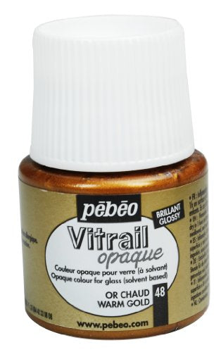 Pebeo 050-048CAN Vitrail Stained Glass Effect Glass Paint 45-Milliliter Bottle, Warm Gold