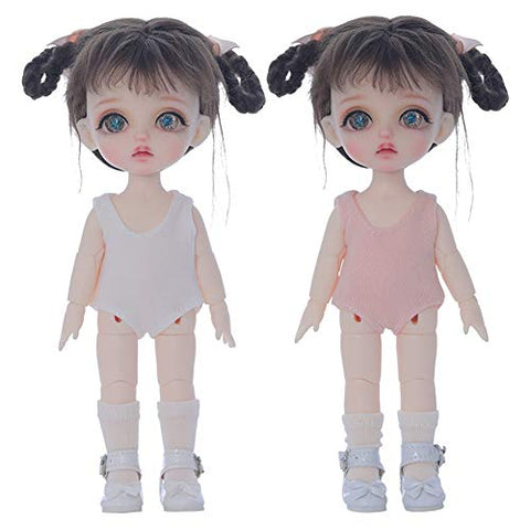 "YILIAN BJD Dolls 1/8 SD Dolls 6"" Movable Joint Mini Doll + Clothes + Makeup + Shoes + Wigs + Sock, for Collections, Children's Toy"