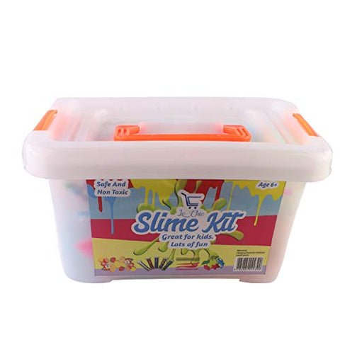 Slime Kit, DIY Slime Kit, Slime Kit for Girls, Slime Kit for Boys, Starter Kit, Make Your Own Slime,, (Everything in one Box, Great Gift Idea, All Supplies, All Accessories, Organized