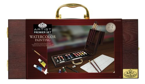 Royal & Langnickel Premier 24 Piece Watercolor Painting Artist Case