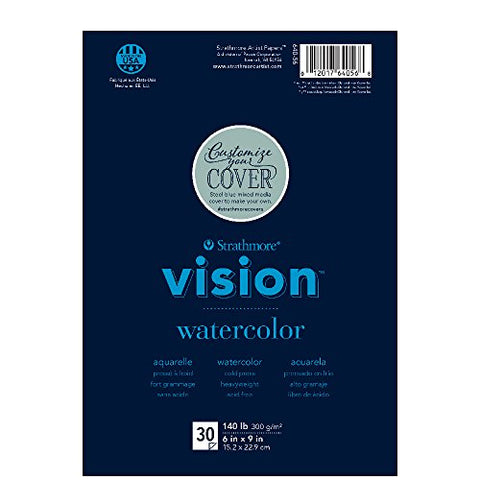 "Strathmore (640-56 Vision Watercolor Pad, 6""x9"", 30 Sheets"