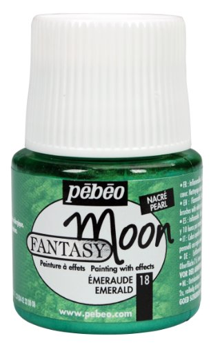 Pebeo 167018CAN  Fantasy Moon Paint 45ml, Emerald