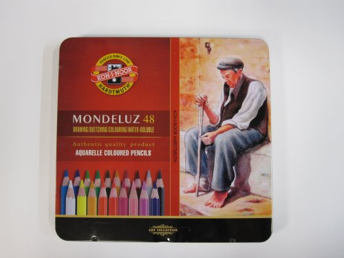 KOH-I-NOOR 3727 Mondeluz Aquarell Coloured Pencils - Assorted Colour (Set of 48)