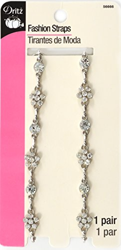 Dritz Detachable & Adjustable Rhinestone Fashion Straps, Silver