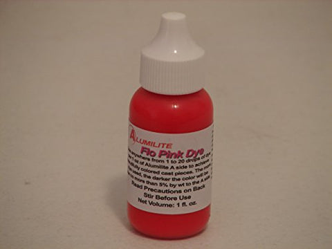 Alumilite Casting Resin Pink FLUORESCENT DYE 1 oz Made in USA