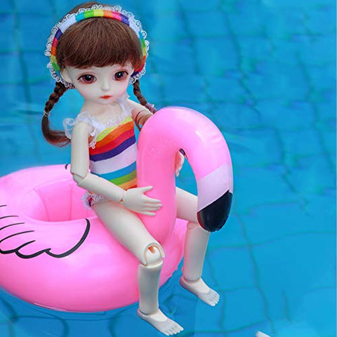 GGoodd BJD Dolls 1/6 26 cm Lovely Pool Girl in Colorful Bikini Ball Jointed Doll with Full Set Clothes Shoes Wig Makeup Handmade Toy