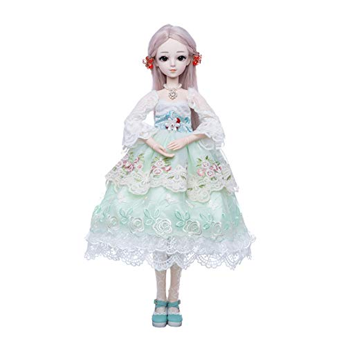 RuiyiF BJD Doll 1/3 with Clothes Wig Makeup, 24 Inch Girl BJD Dolls for Adults Kids with 18 Ball Jointed, DIY Toys/Gifts for Girls Women