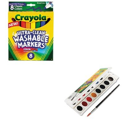 KITCYO530160CYO587808 - Value Kit - Crayola Watercolors (CYO530160) and Crayola Washable Markers