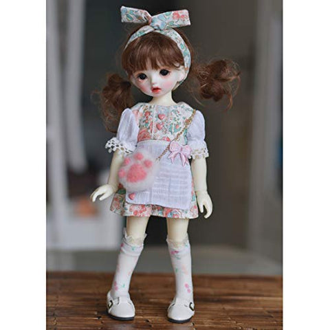 HMANE BJD Doll Clothes, Floral Printed Dress for 1/6 BJD Dolls (No Doll)