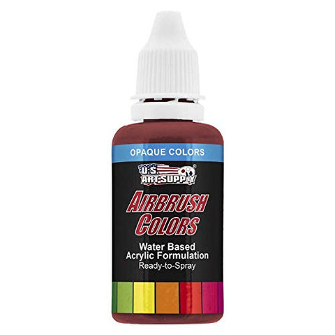 US Art Supply 1-Ounce Opaque Crimson Red Airbrush Paint