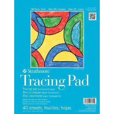"6 Pack 9"" x 12"" Tape Bound Tracing Pad (Product Catalog: Paper Media, Canvas & Surfaces)"