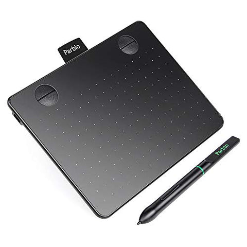 "Parblo A640 Drawing Tablet with 8192 Levels Battery-Free Stylus Pen, 7.2"" x 5.9"" Graphic Drawing"
