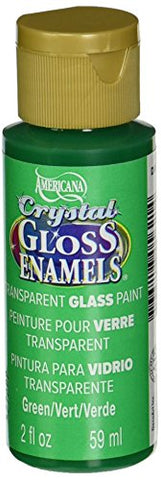 DecoArt Americana Crystal Gloss Enamels Paint, 2-Ounce, Green