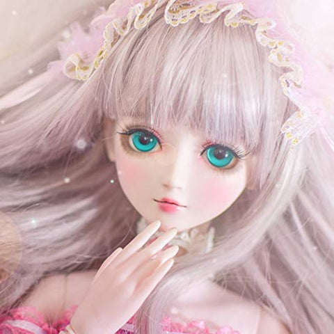 New 60cm Ye Luoli  Doll Wig 1//3 BJD Doll Modified Hair Wig #1-#21 Colors